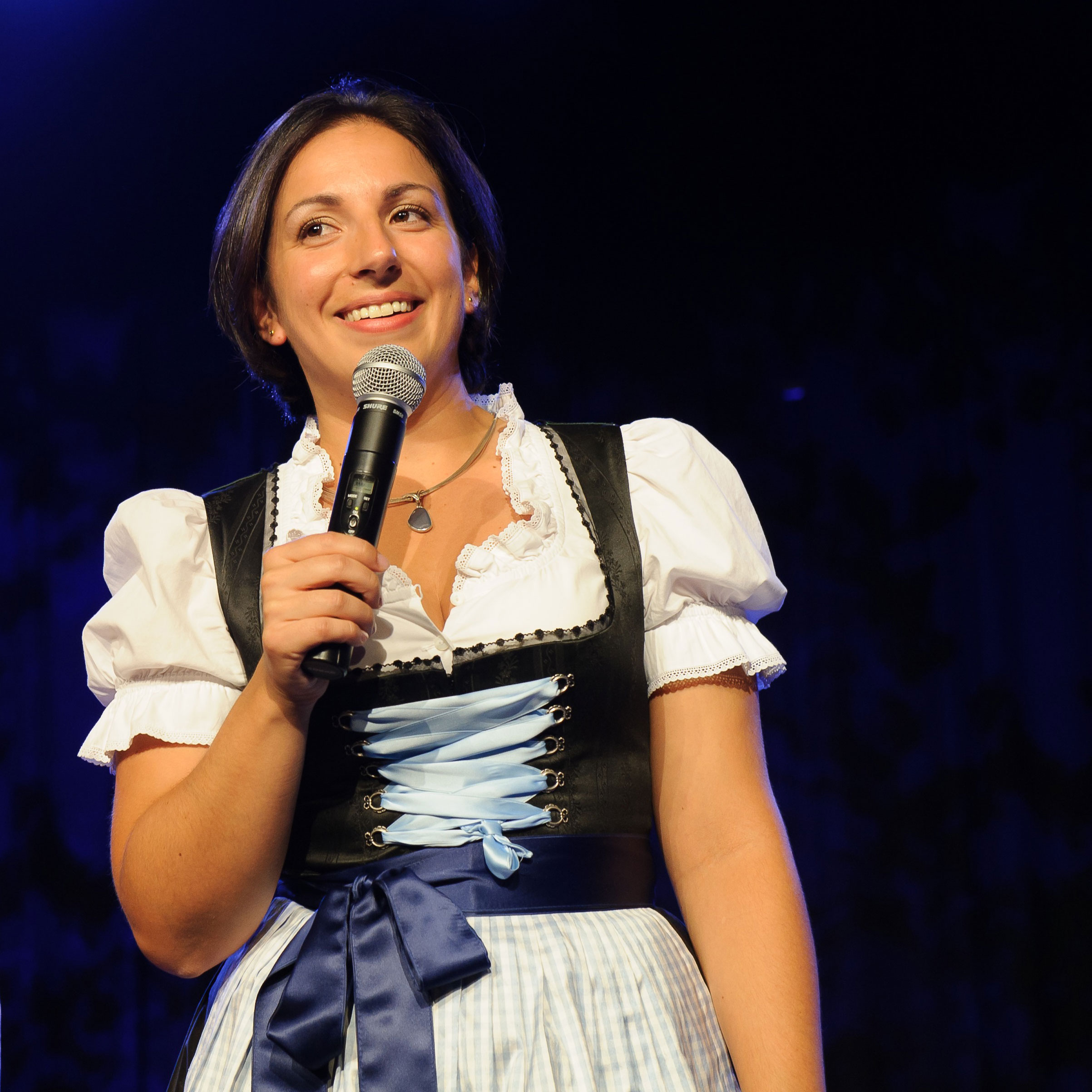 the Personal Brand Architect on stage in Bavaria