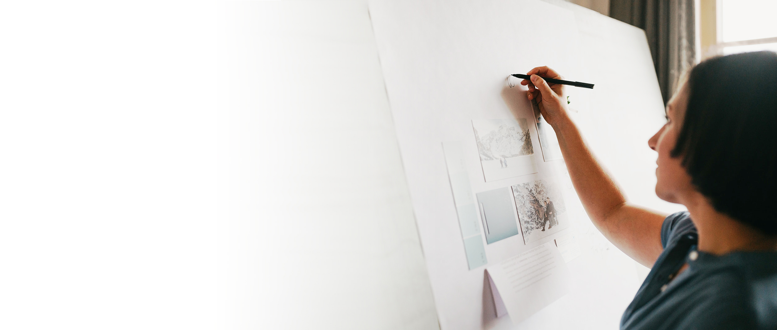 Woman at an architect's board - personal brand architect