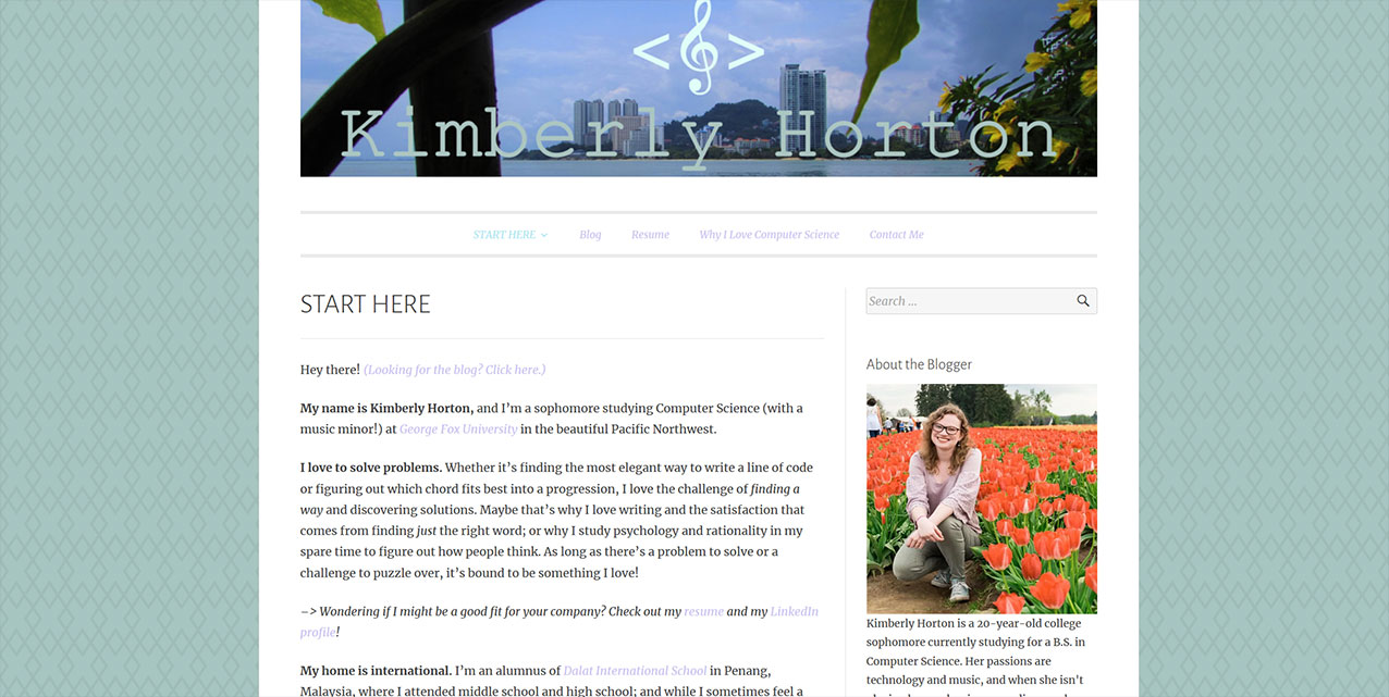 Inspiring Personal Websites - Kimberly Horton