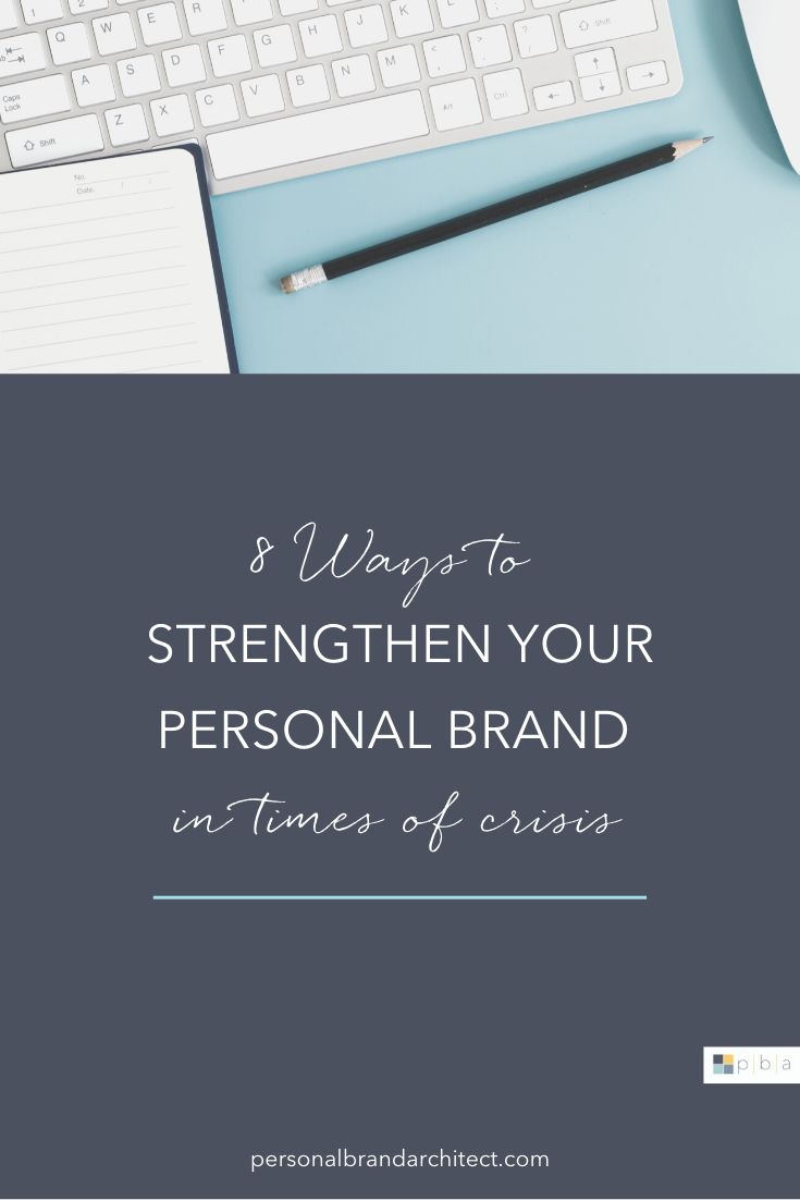 blue pinterest graphic - 8 ways to strengthen your brand