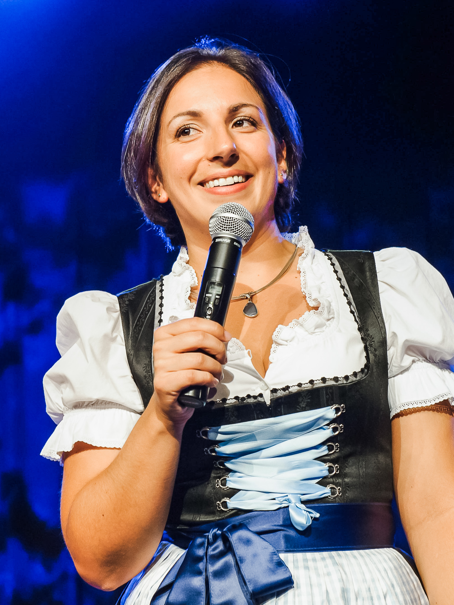 Karina Schwarzenböck on stage in Bavaria
