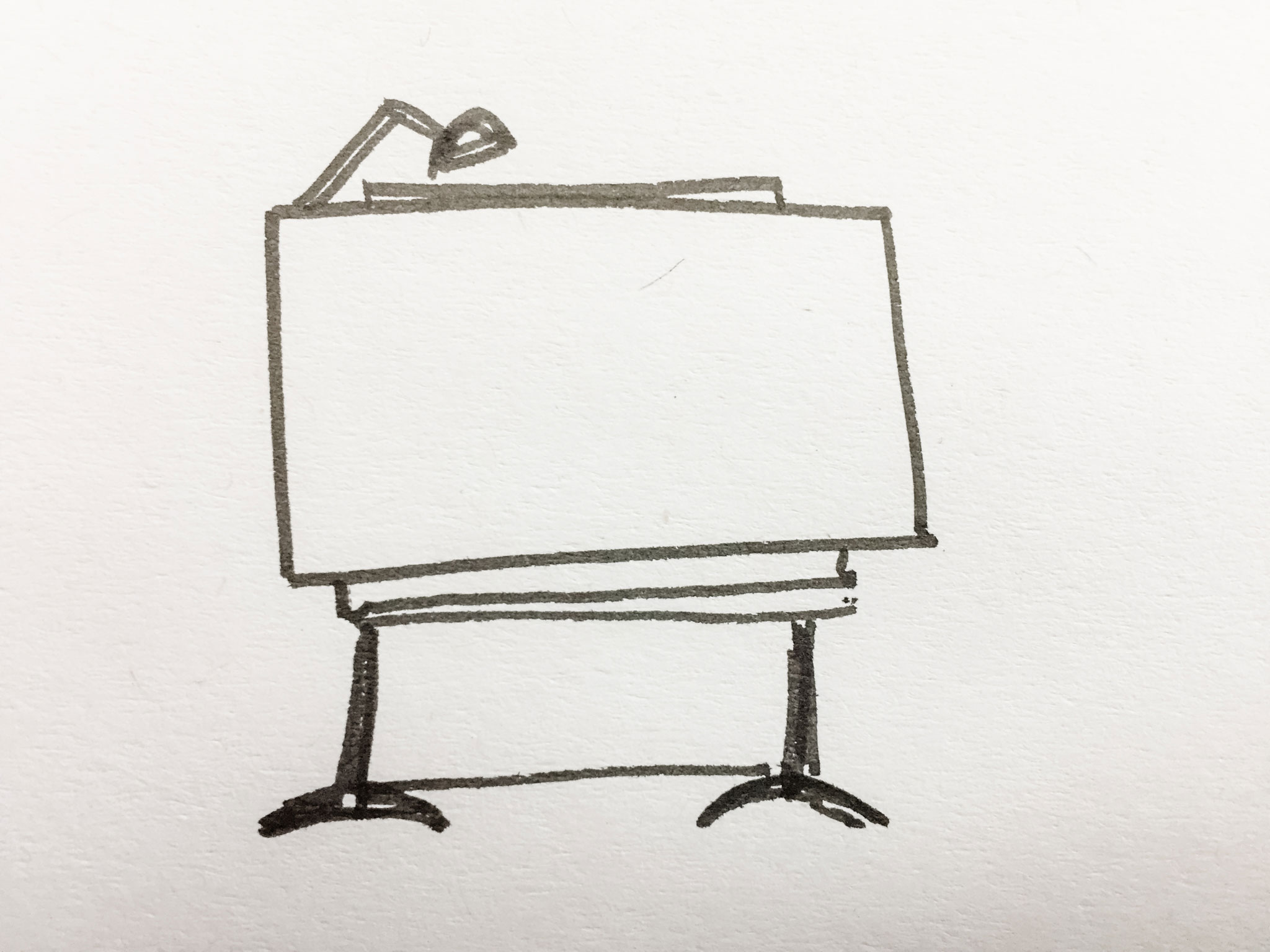 hand drawn architect's desk - personal brand architect