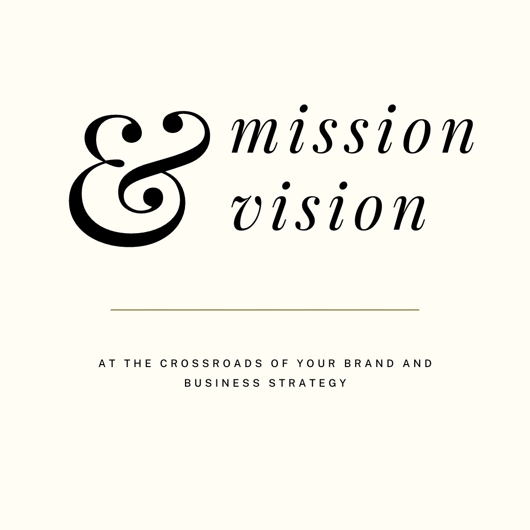 on the blog - your mission and vision