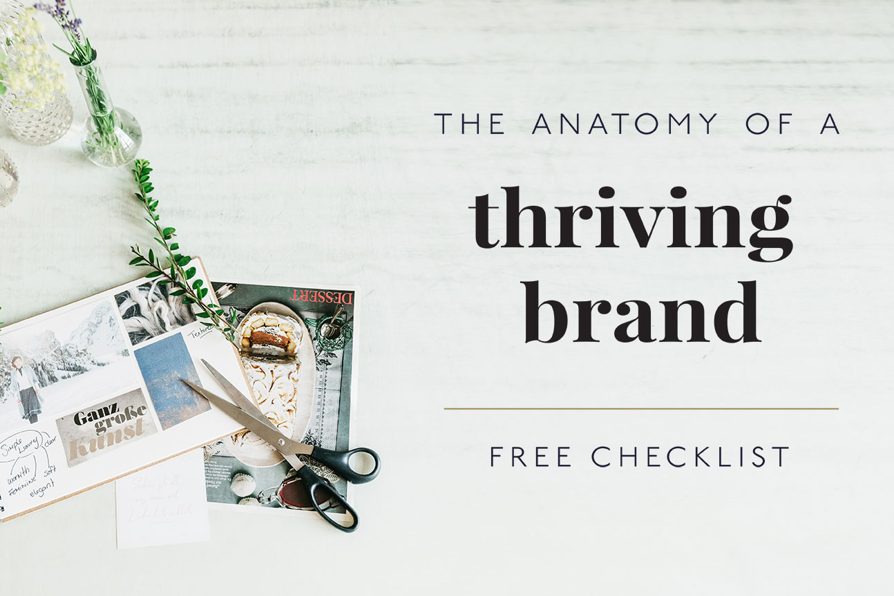 The anatomy of a thriving brand free checklist