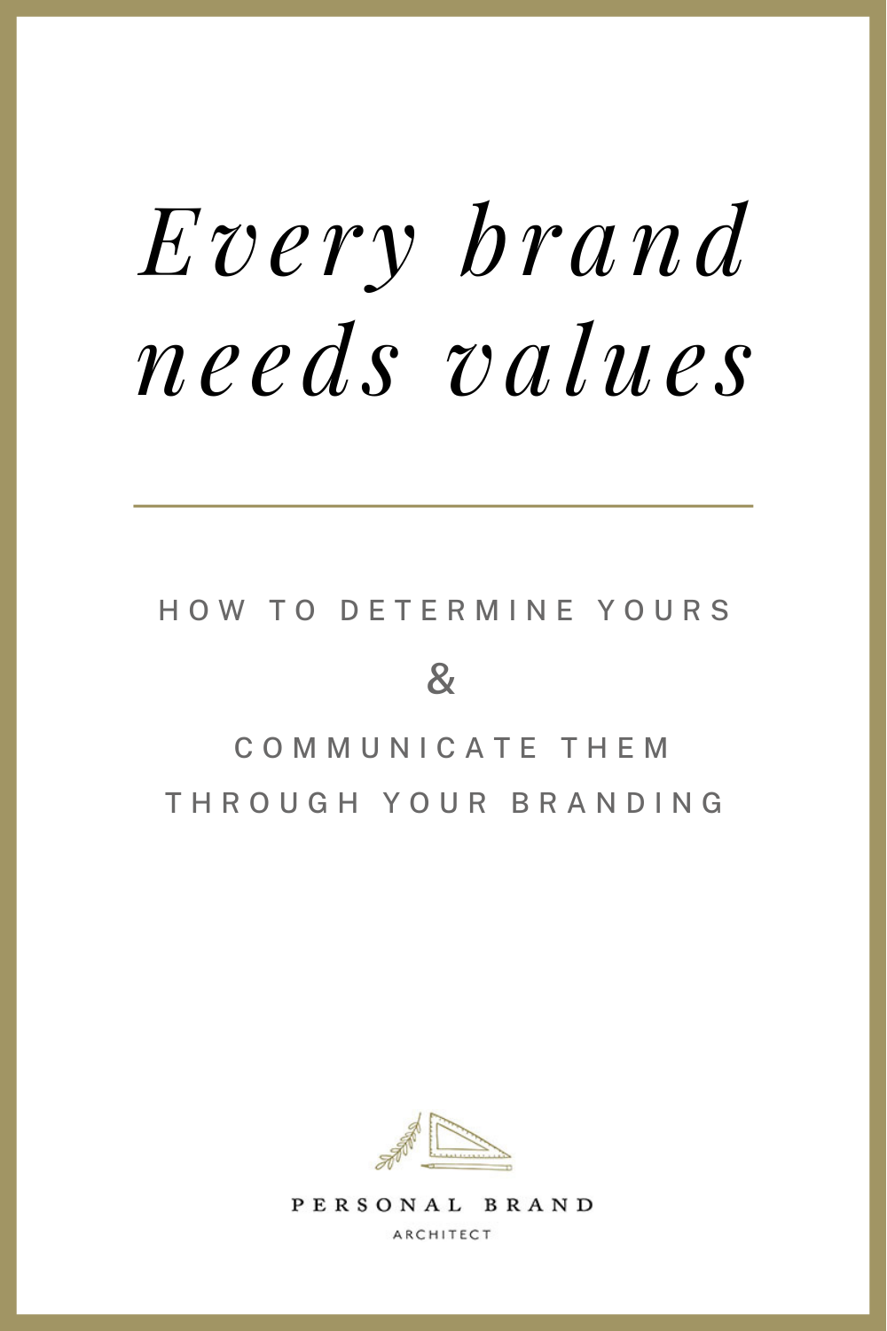 every brand needs values; how to determine yours and communicate them through branding