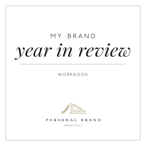 Brand Year in Review Workbook, Personal Brand Architect Karina Schwarzenböck