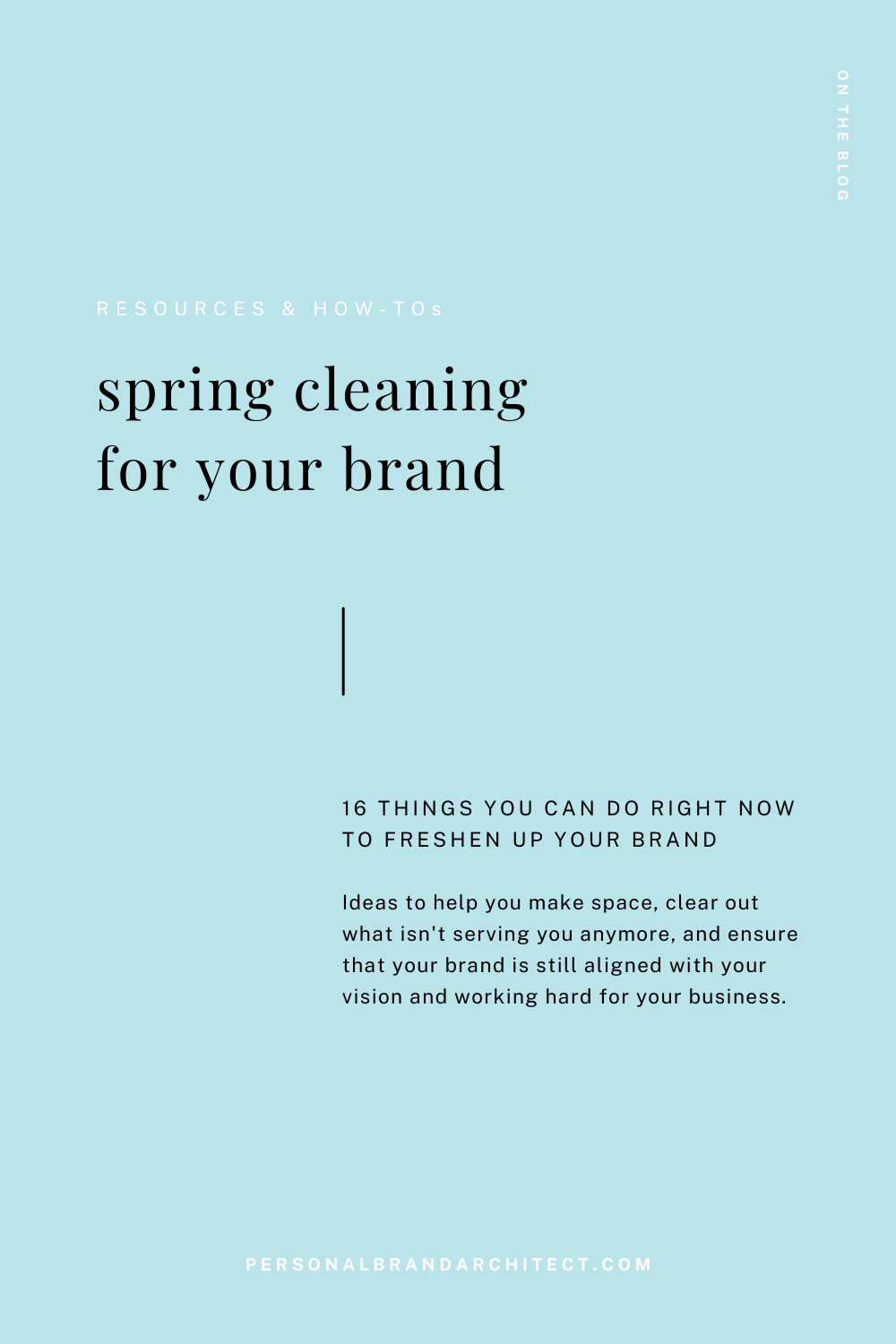 spring cleaning for your brand pinterest pin