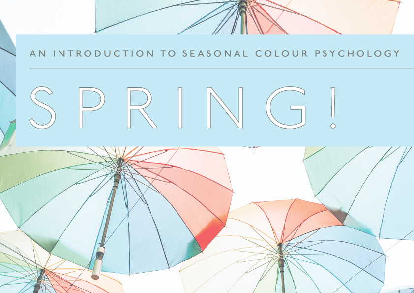Colourfull umbrellas the spring brand in seasonal colour psychology