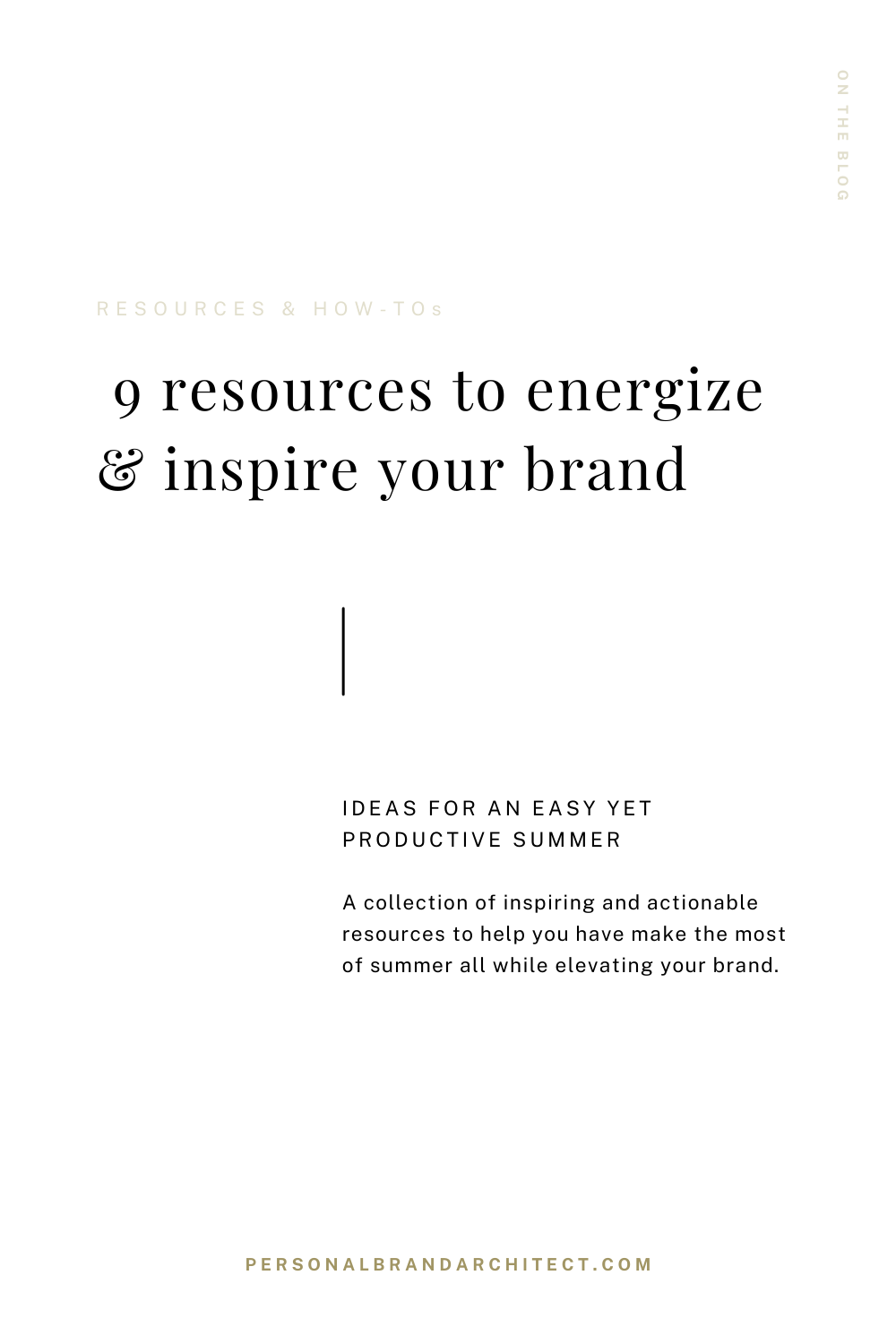 Pinterest Pin - 9 resources to energize & inspire your brand